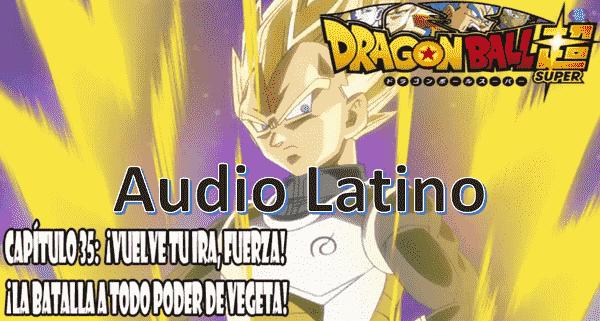 Ver capitulo 35 en audio latino online, el combate que sigue será entre Frost y Vegeta, quien se convierte en Super Saiyajin y derrota de un solo golpe a Frost.