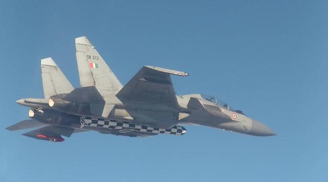 Brahmos mounted on jet