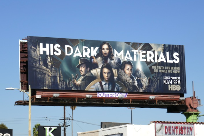 His Dark Materials series launch billboard