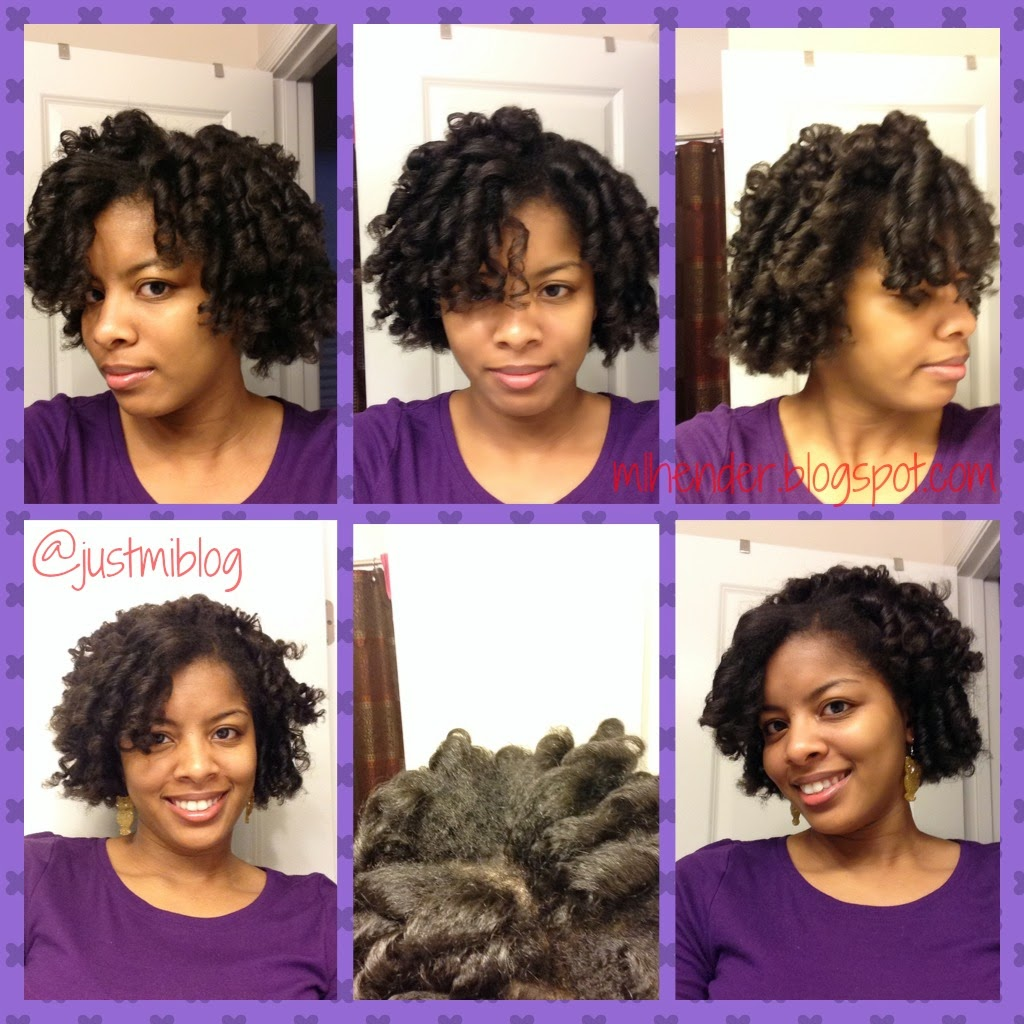 The final results of the flexi rod set on my natural hair