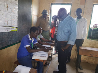 Ekuru Aukot cast his ballot in Baringo. PHOTO | FILE