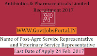 Antibiotics & Pharmaceuticals Limited Recruitment 2017–Agro Service Representative