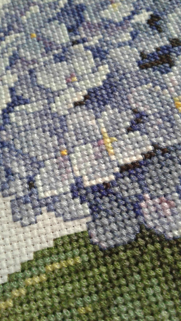 Counted Cross Stitch - Hydrangea Project