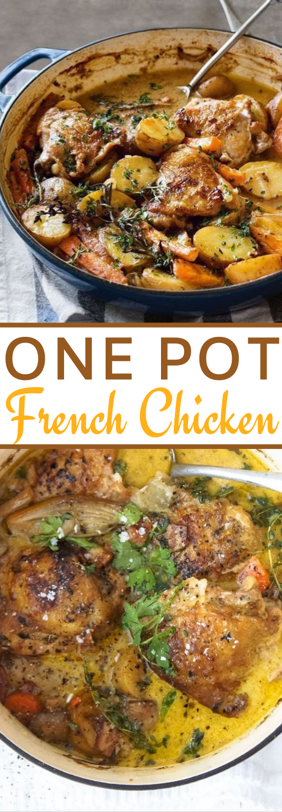 One-Pot French Chicken #dinner #chicken #recipes #weeknight #easy