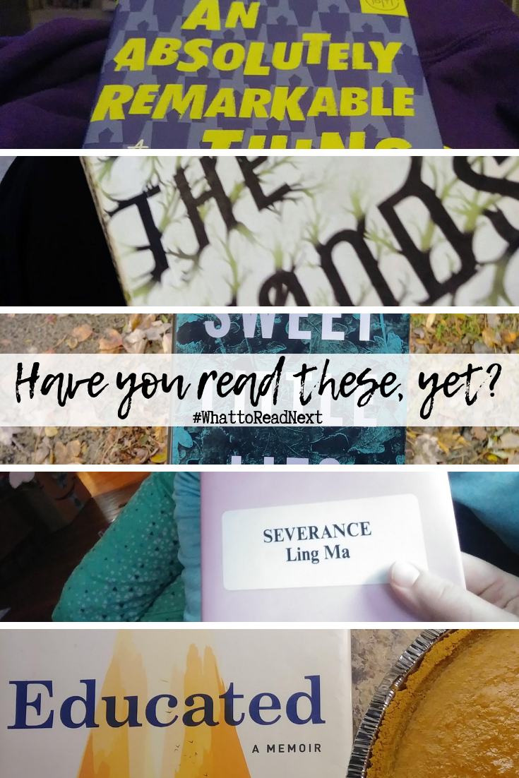Have you read these? In the Woods, Severance, Educated, An Absolutely Remarkable Thing, and Sweet Little Lies