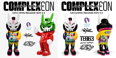 ComplexCon Exclusive TEQ63 Artist Series Vinyl Figures by Sket One x Quiccs x Martian Toys – Phase 1 & Sketracha