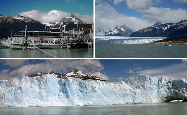 El barco te permite contemplar el glaciar desde una corta distancia
