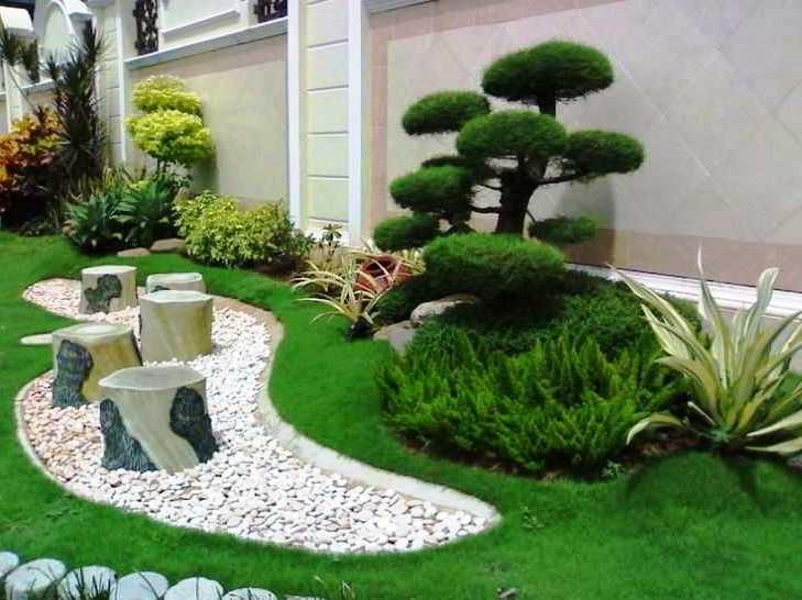Gambar Desain Taman Rumah Mewah