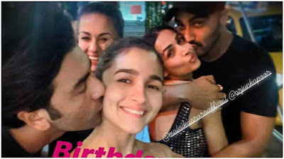 ranbir kapoor kissed aliya bhatt on birthday