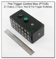 PT1029: Pre-Trigger Control Box (PTCB) - 21 Outputs, 2 Inputs, Test & Pre-Trigger Switches