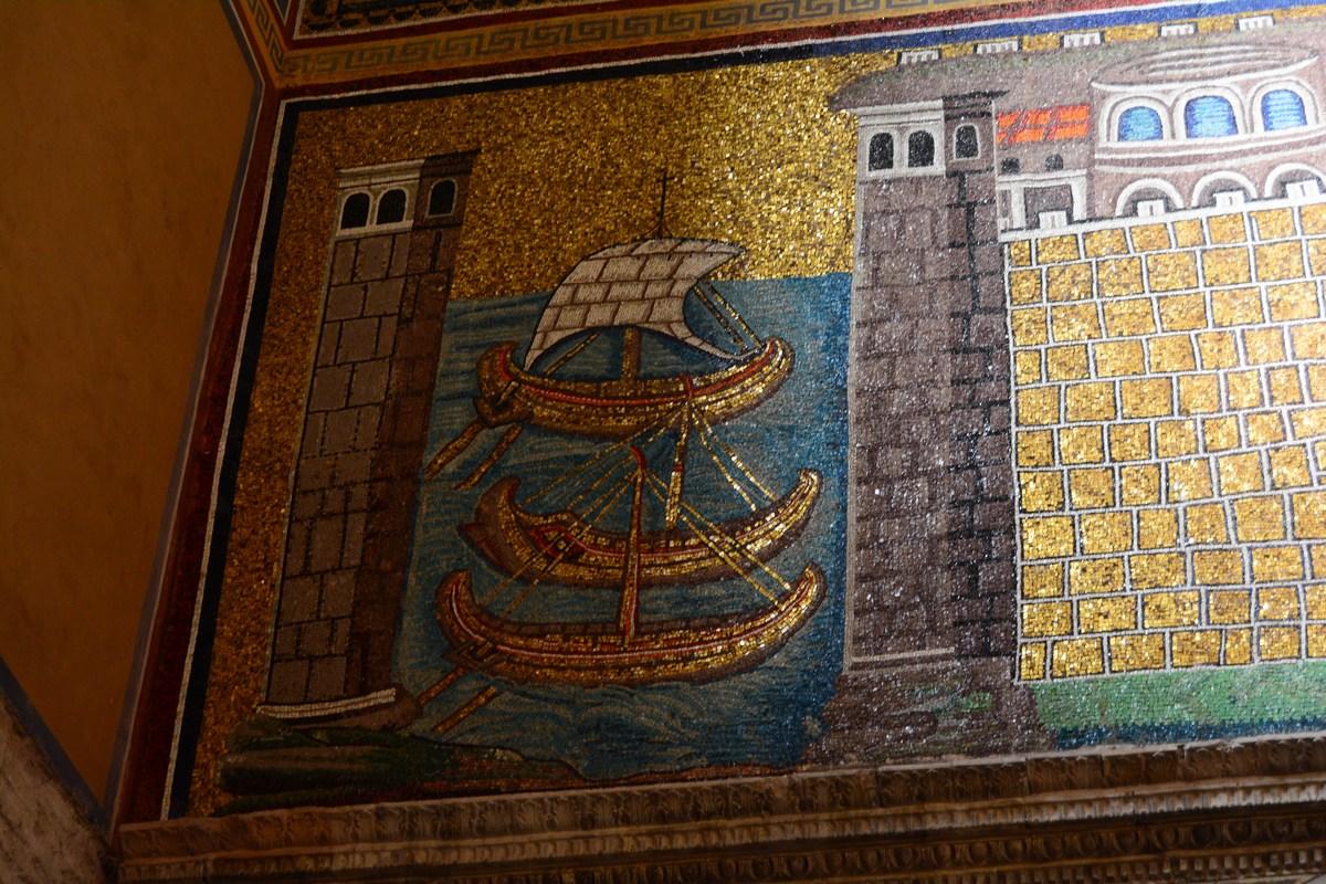 port de Classis mosaïque Ravenne