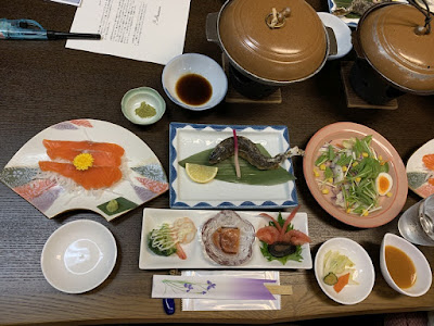 赤沢温泉旅館の夕食