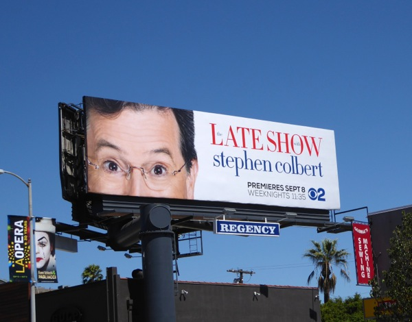 Late Show Stephen Colbert series billboard
