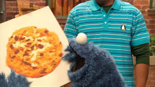 Cookie Monster eats the painting, Sesame Street Episode 4407 Still Life With Cookie season 44