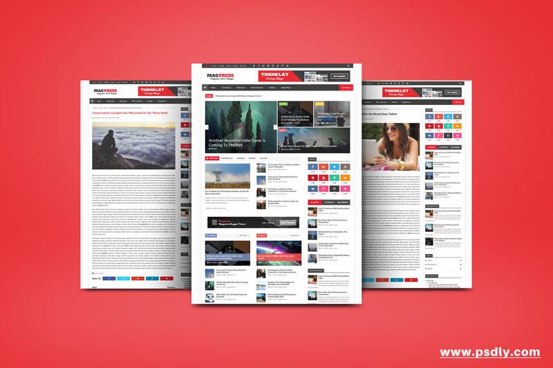 Download Free Magpress Blogger Template Premium FREE