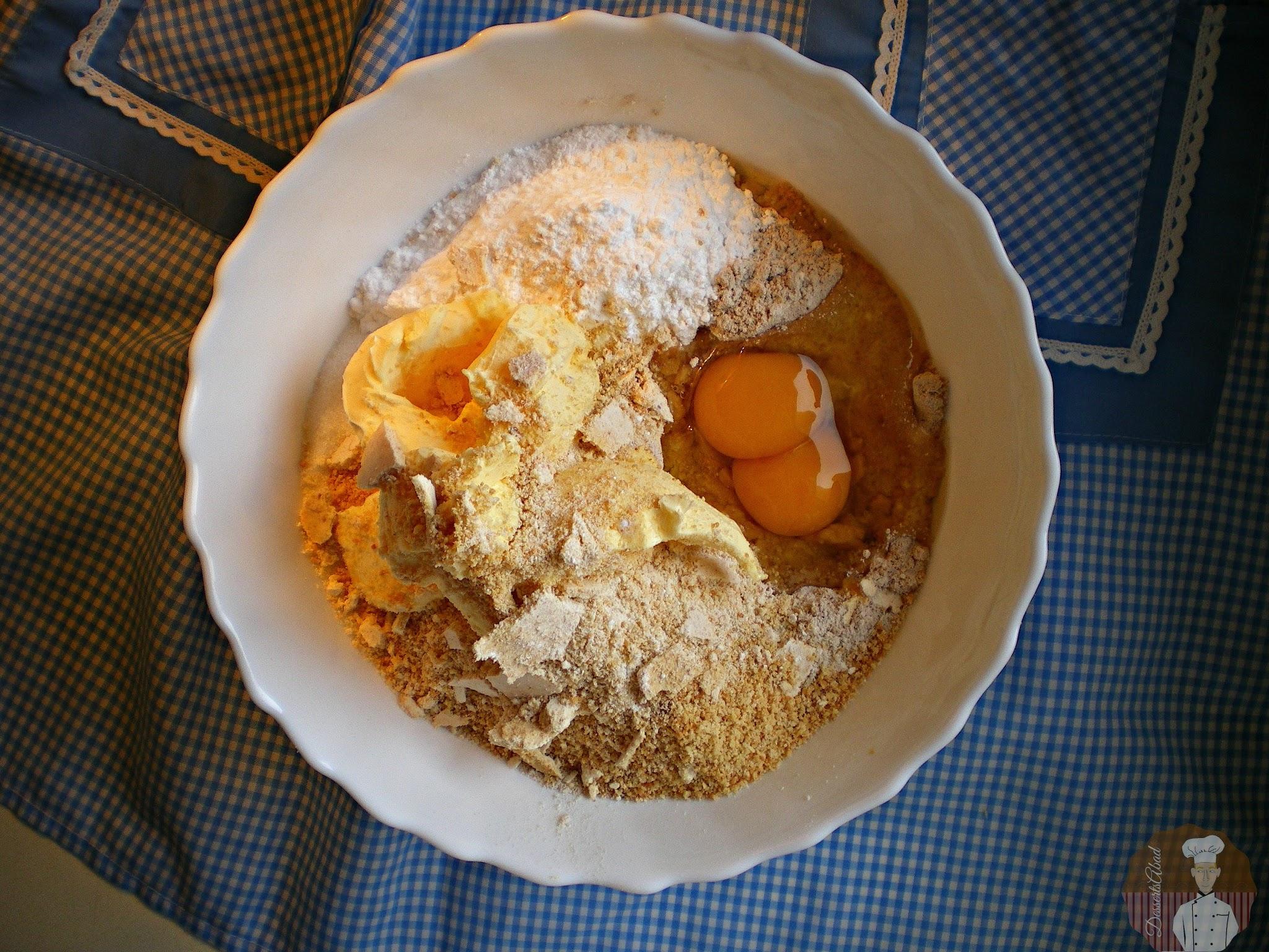 Pastas surtidas con  harina de avena y nocilla : Ingredientes
