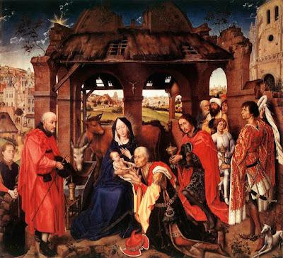 La adoración de los Magos. Van der Weyden