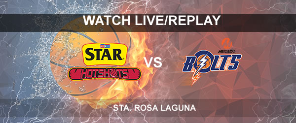 List of Replay Videos Star vs Meralco October 3, 2017 @ Sta. Rosa Laguna