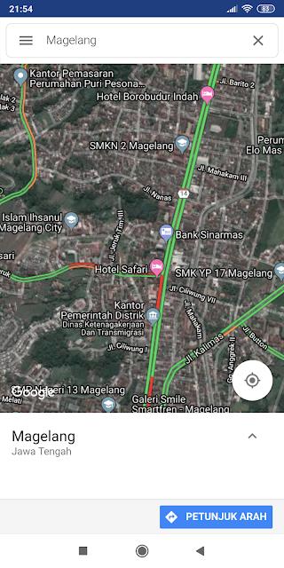 google map dengan fitur lalulintas