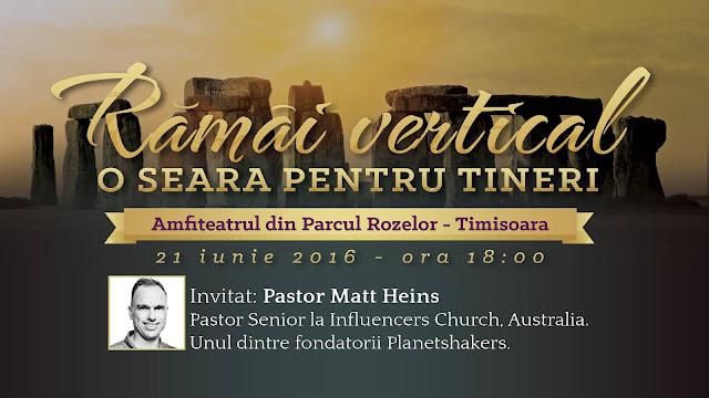 """Tineret: """"Ramai Vertical"""" cu Matt Heins in Parcul Rozelor Timisoara - 21 iunie 2016"""