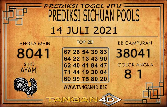 PREDIKSI TOGEL SICHUAN TANGAN4D 14 JULI 2021