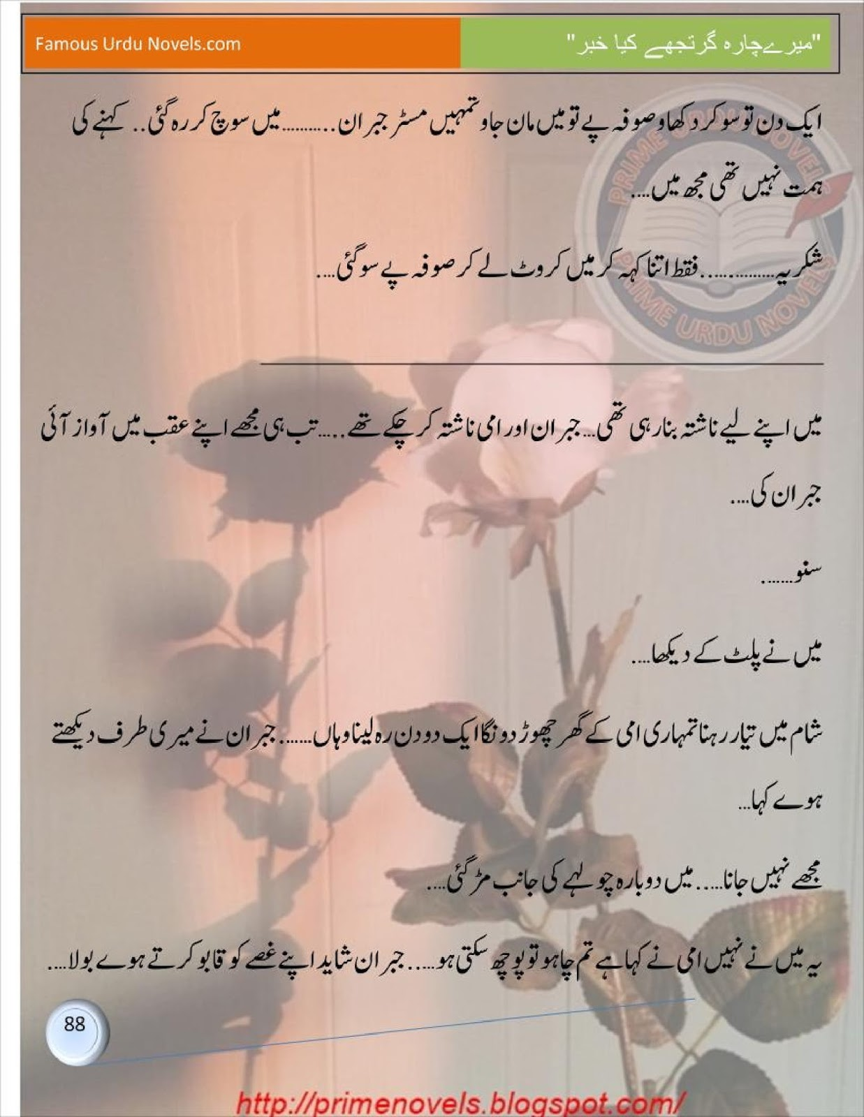 Romantic Urdu Novels List