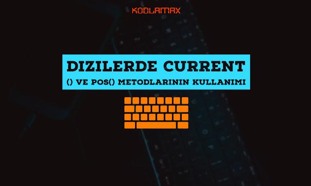 Dizilerde Current() Ve Pos() Metodlarının Kullanımı