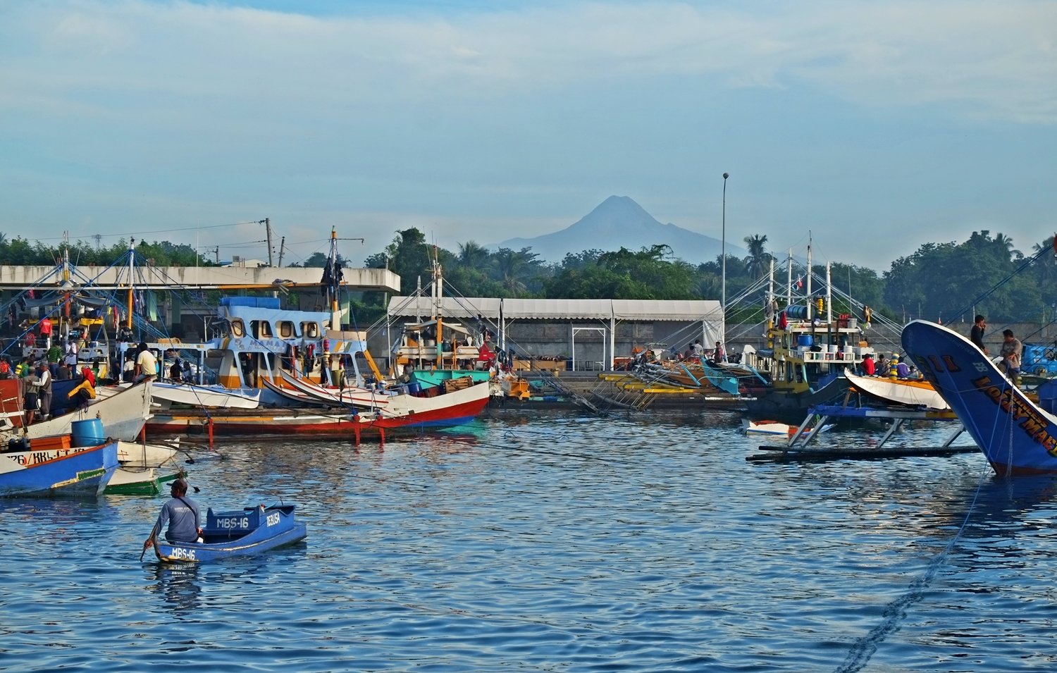 Mt. Matutum as viewed from Gensan Fish Port