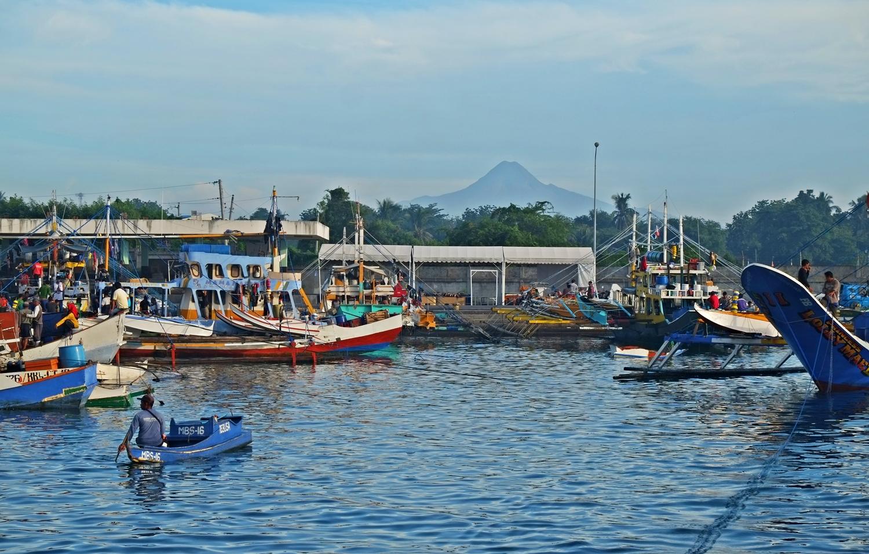 Mt. Matutum as viewed from Gensan Fish Port
