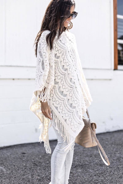 Sabrina Poncho Top | 19 Gorgeous Fall Outfits You Want to Wear Over And Over Again