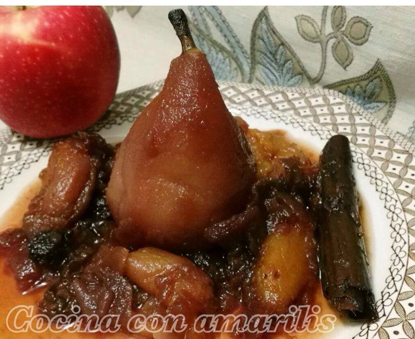receta de compota de manzana con pera
