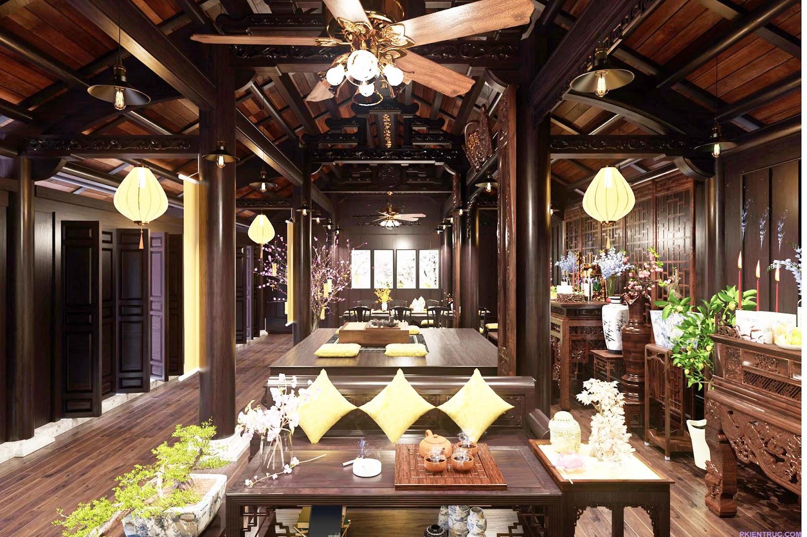 Nội thất nhà gỗ truyền thống- ảnh 2
