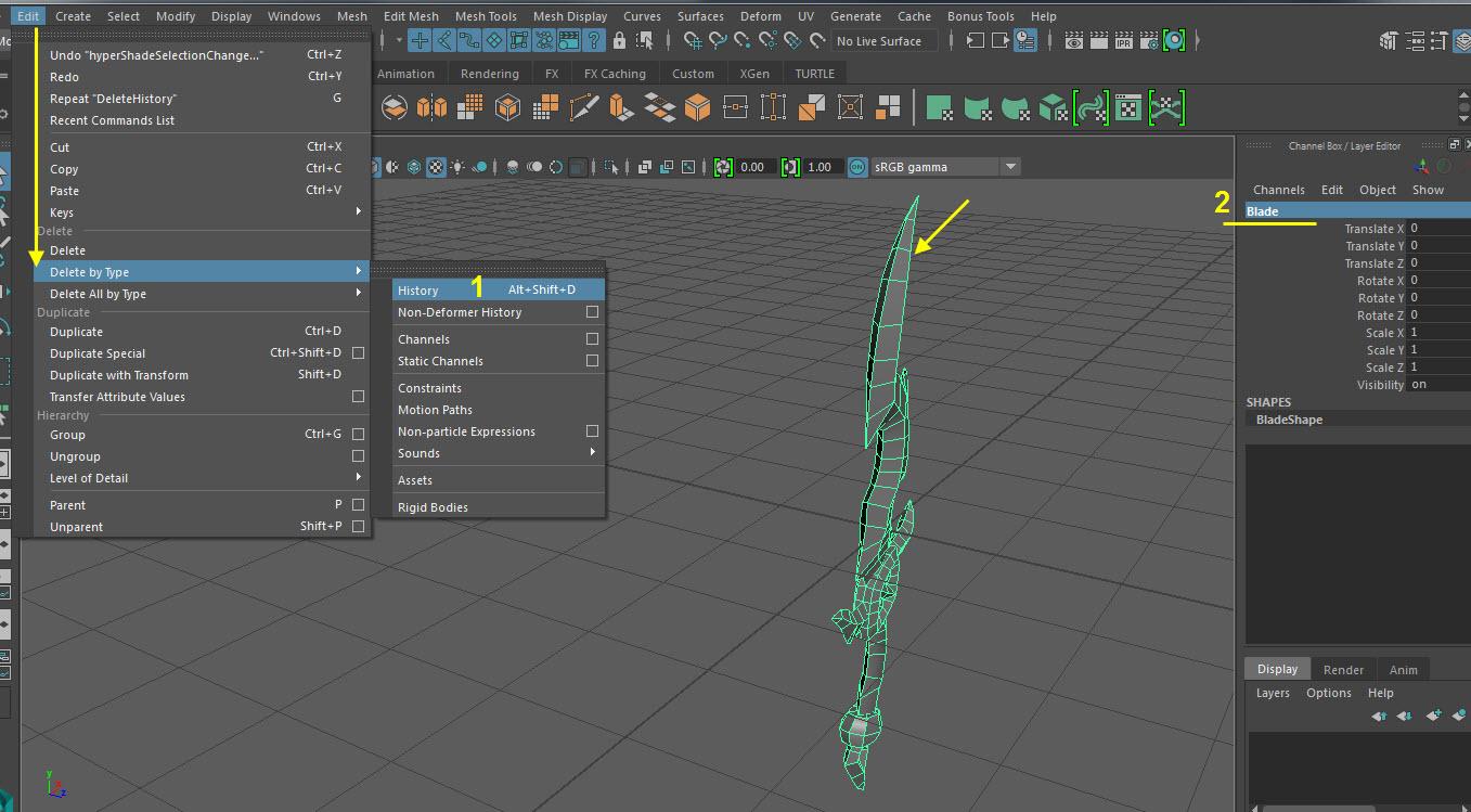 Blade UV Mapping 21