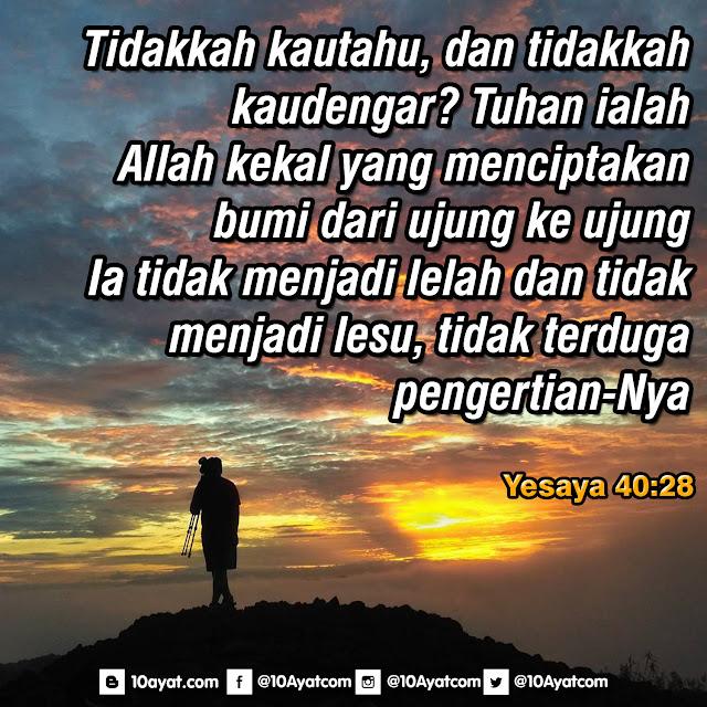 Yesaya 40:28