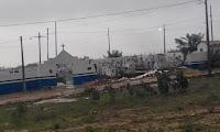 No Damião, chuva derruba muro de cemitério