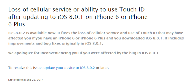 iOS 8.0.2 is now available for download to fix known bugs in iOS 8.0.1