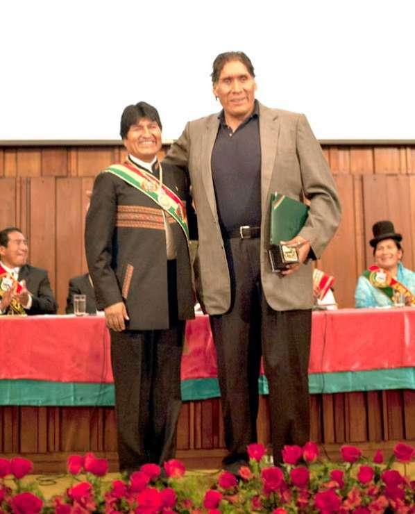 Fallece Walter Takate Quisbert un boliviano de 2,25 metros Tataque