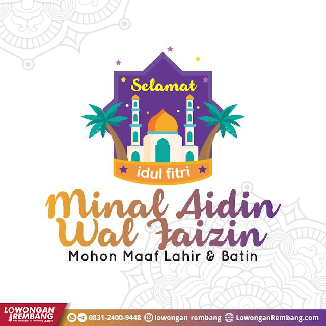 Twibbon Selamat Idul Fitri 1442 Hijriyah Kabuapten Rembang