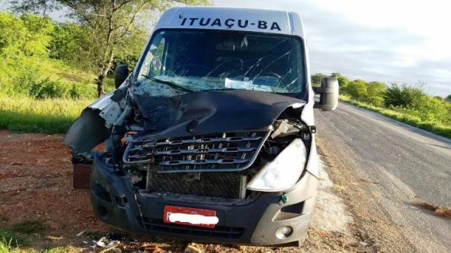 BA-142: Animal solto na pista causa acidente entre Tanhaçu e Anagé