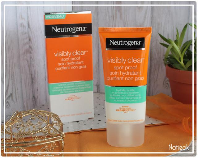 soin hydratant Visibly clear neutrogena