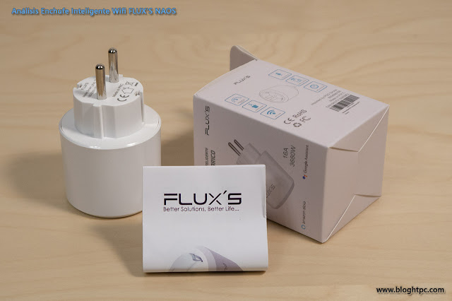 Enchufe Inteligente Wifi FLUX´S NAOS mide el consumo eléctrico