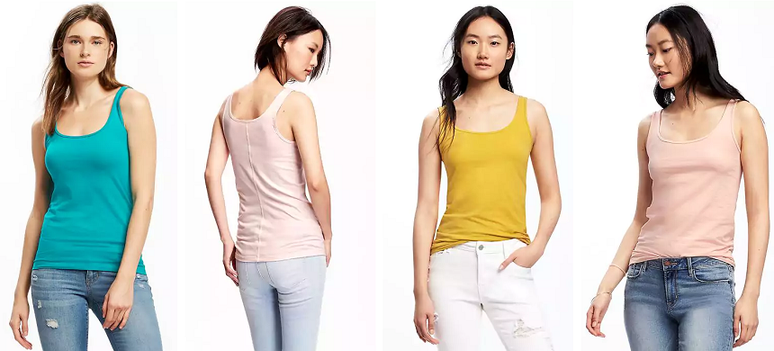 Today at Old Navy you can snag these First Layer Fitted Tank Tops for only $3 (reg $10)