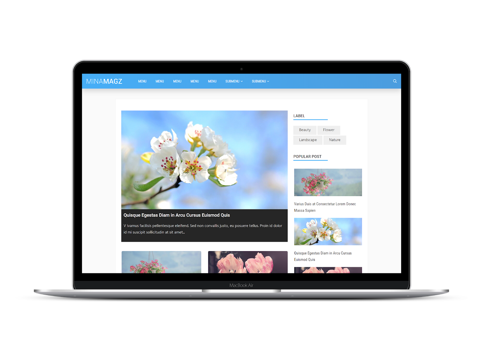 MinaMagz Blogger Template