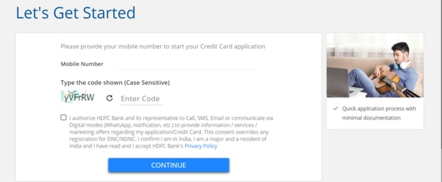 HDFC Millennia Card apply process for Non HDFC account holder