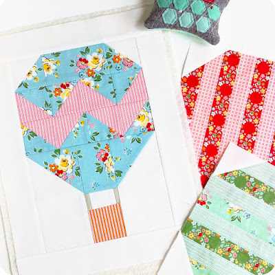 hot air balloon quilt block