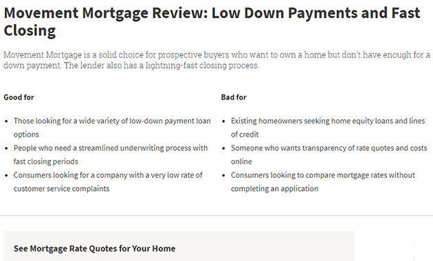 Movement Mortgage Reviews Regarding Its Services and Program of Loans