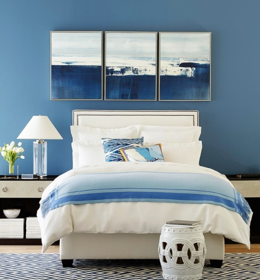 Blue Painted Bedroom Elegant