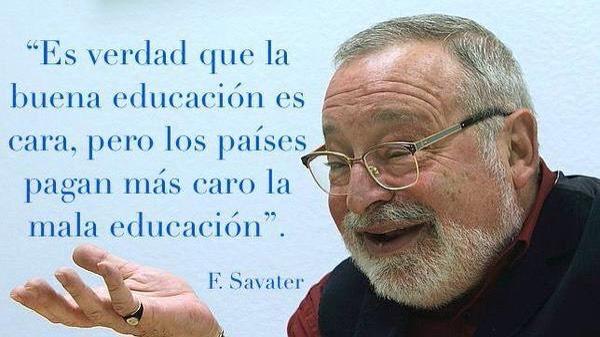 """""""La educación debe formar ciudadanos, no empleados"""" asegura Fernando Savater"""