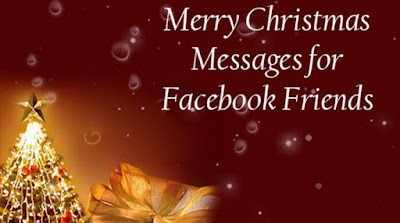 Merry Christmas Messages Image for Facebook Friends