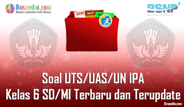 Soal UTS/UAS/UN IPA Kelas 6 SD/MI Terbaru dan Terupdate